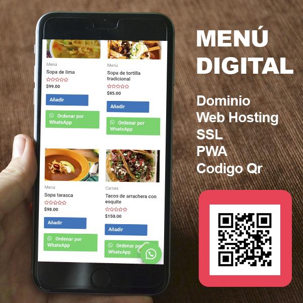 menu digital aztrus mexico diseño web
